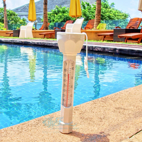 Image of Large Pool Floating Thermometer - White