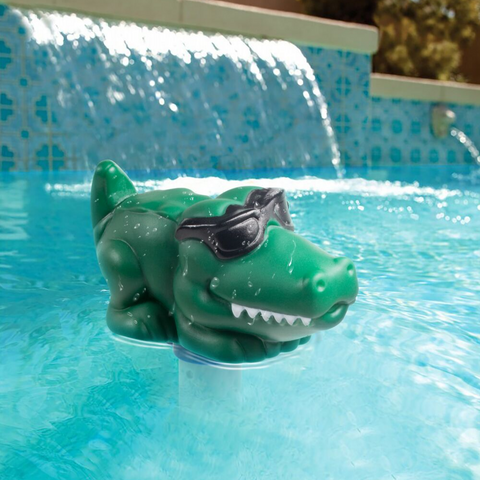 Floating Pool Thermometer - Alligator Style
