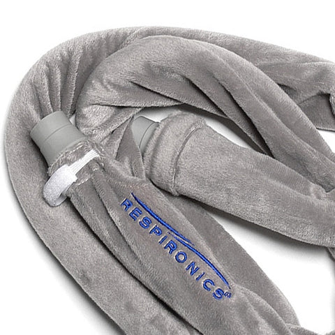 Philips Respironics 6 Foot Silver Fleece CPAP & BiPAP Hose Tubing Cover - CPAPplus.com