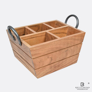 Boat Cutlery Caddy/Holder with Horseshoe Handle