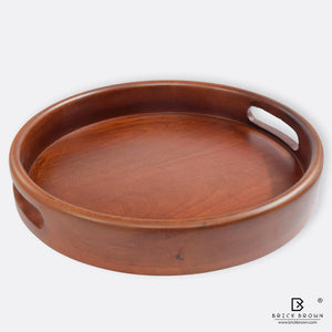 Classic Round Serving Tray from Mahogany Collection