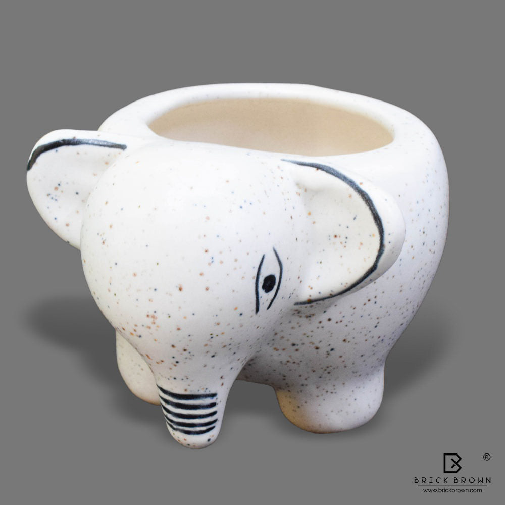 Cute Baby Elephant Planter in Ceramic