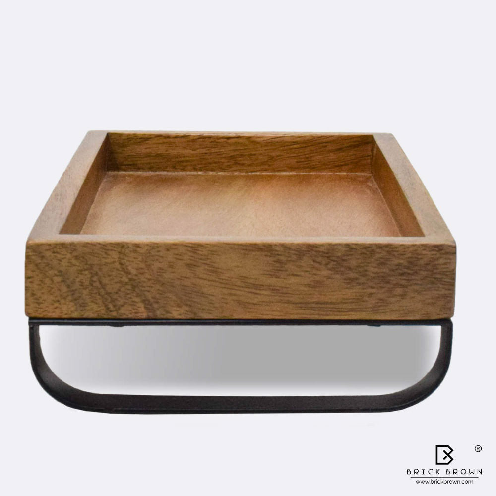 Serving Tray with Metal Stand (Small)