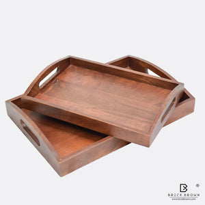 Classic Serving Tray from Mahogany Collection (Set of 2)