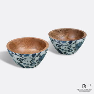 Floral Serving Bowl Set (Set of 2)