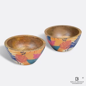 Tropical Serving Bowl Set (Set of 2)