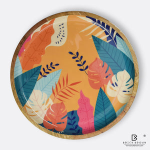 Tropical Round Serving Platter
