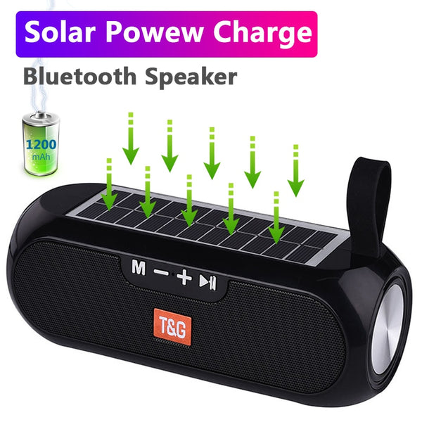 Solar Charging Bluetooth Speaker - TurboRobot