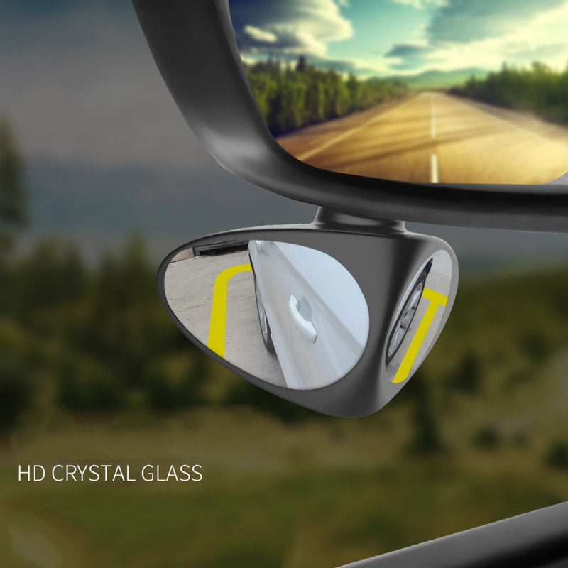 360 Degree Rotatable 2 Side Car Blind Spot Convex Mirror - TurboRobot