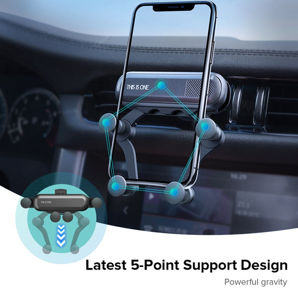 Gravity Car Clip Mount Mobile Phone Holder - TurboRobot