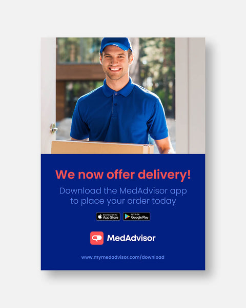 A3 Poster 'We Now Offer Delivery'