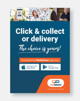 A3 Poster 'Click and Collect or Delivery Poster'