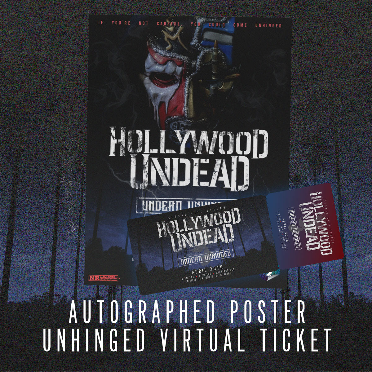 Image of Undead Unhinged Ticket + Autographed Premiere Poster