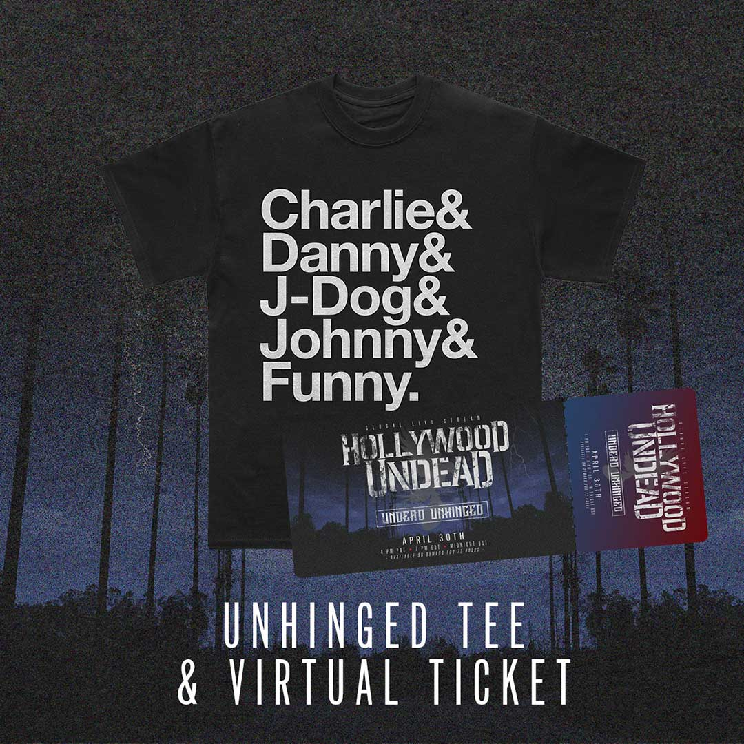 Image of Undead Unhinged Ticket + Ampersand T-Shirt