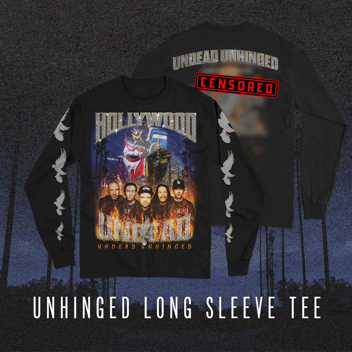 Image of Undead Unhinged Bling Long Sleeve Tee