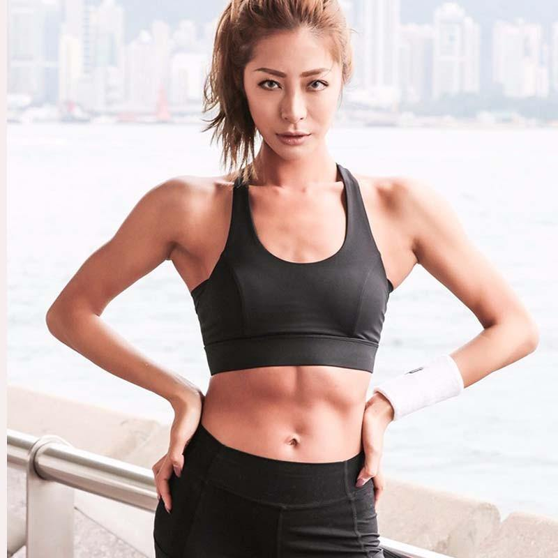 White Strap Push Up Sports Bra for Women Gym Running yoga top Bra Athletic Vest Hollow out Sportswear Underwear - The Fiterati