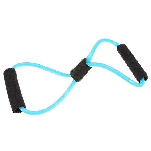 Yoga Resistance Bands Tube Stretch Fitness Pilates Exercise Tool - The Fiterati