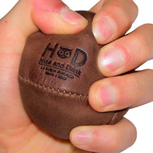 Handmade Bourbon Brown Leather Stress Ball - Includes 101 Year Warranty - The Fiterati
