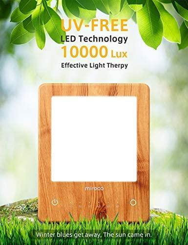 Miroco Light Therapy Lamp, LED Bright Therapy Light - UV Free 10000 Lux - The Fiterati
