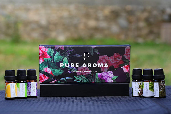 Essential Oils Set of 6 by PURE AROMA - The Fiterati
