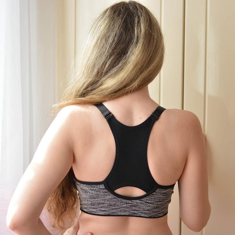 Quick Dry Sports Bra,Women Padded Wirefree Adjustable Shakeproof Fitness Underwear Sports Bras - The Fiterati