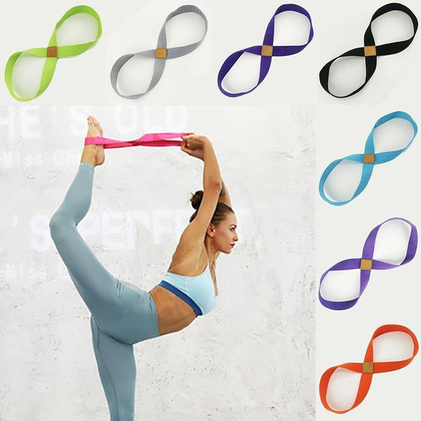 Yoga Stretch Strap Belt 8-shaped Women Pull Up Bands Belt Rope for Wrist Training Gym Pilates Physical Therapy Fitness Equipment - The Fiterati