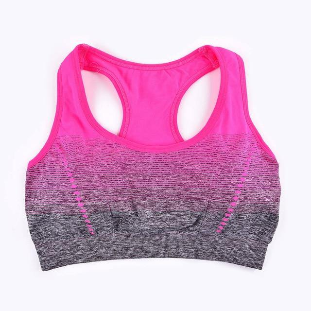Sports Bra High Stretch Breathable Top Fitness Women Padded for Running Yoga Gym Seamless Crop Bra Gradient Sport Bra - The Fiterati