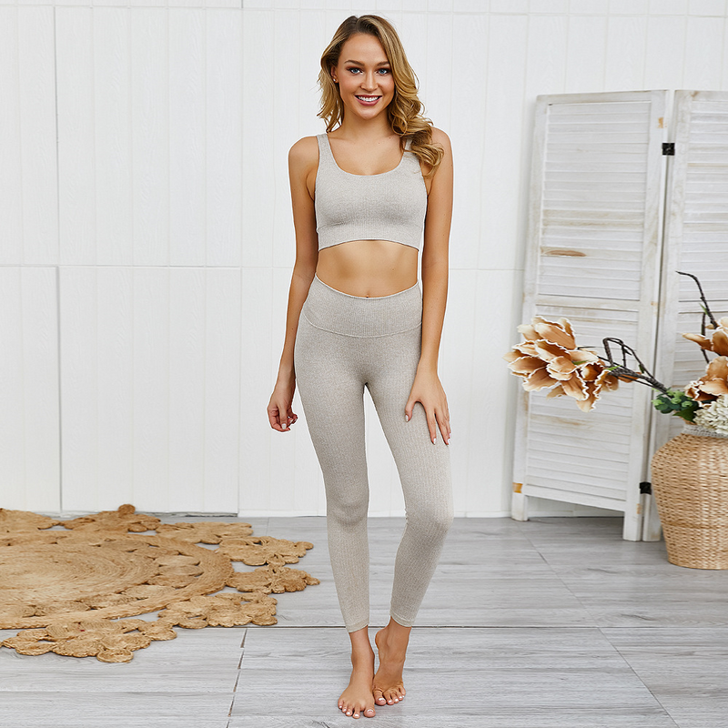 St. Thomas | Ribbed Seamless Bra and Leggings Set - The Fiterati