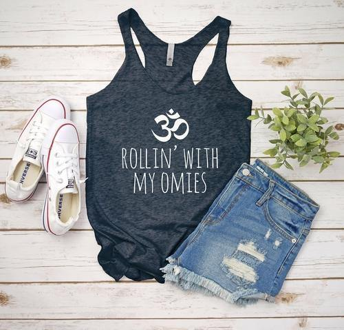 Rollin' With My Omies (Yoga) | Multiple Shirt Styles and Colors - The Fiterati