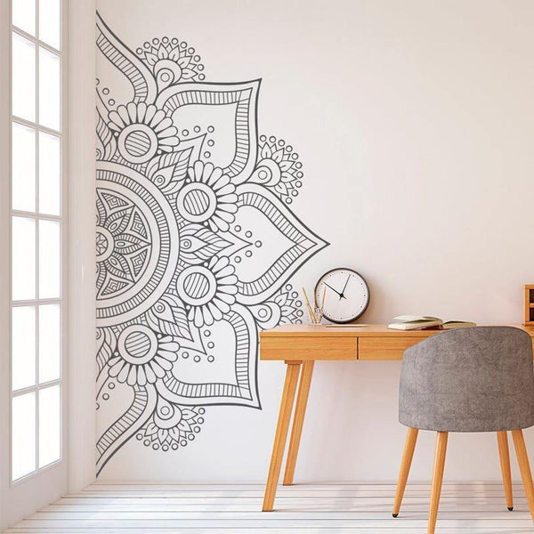 Half Mandala Wall Decal - The Fiterati