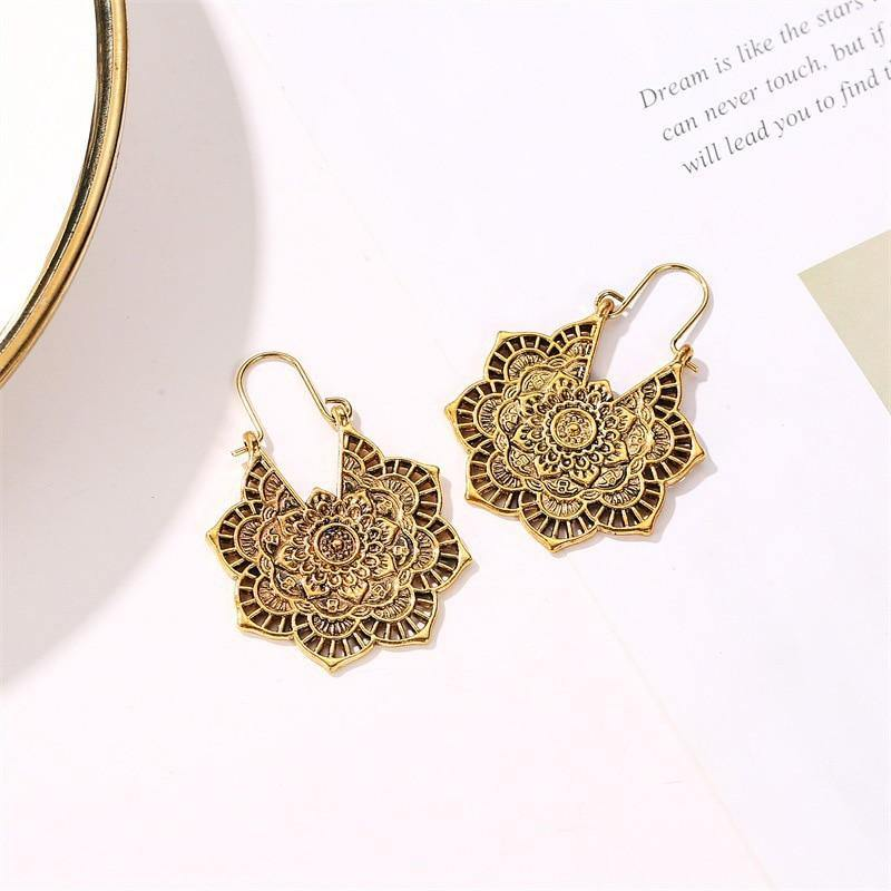 Boho Mandala Earrings - The Fiterati