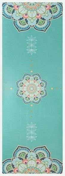 Spring Mandala | Luxe Suede Non-slip Natural Rubber Foldable Yoga Towel | Fiterati - The Fiterati