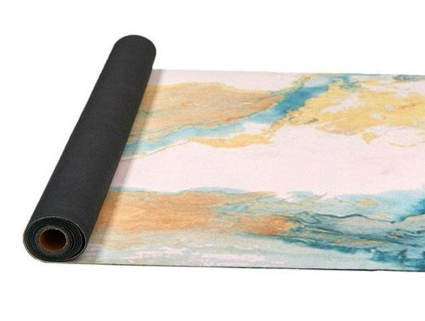 Abstract Zion | Luxe Suede Non-slip Natural Rubber Foldable Yoga Towel | Fiterati - The Fiterati