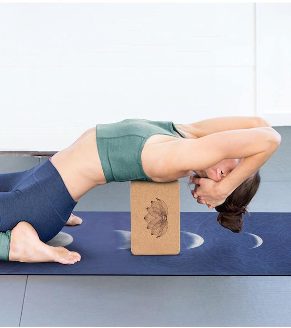 Lotus | Eco-friendly Cork Yoga Block - The Fiterati
