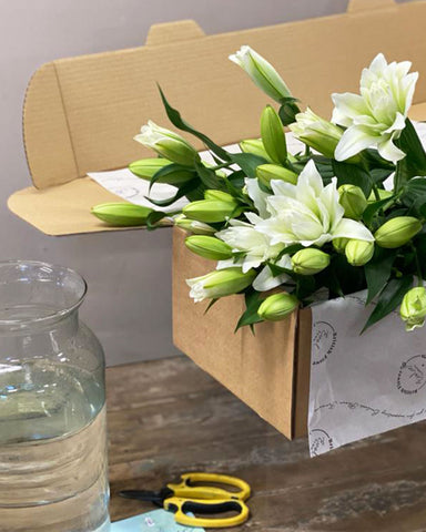 corporate and business gifting british grown flower box