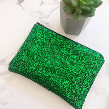 Load image into Gallery viewer, Emerald Glitter Bag