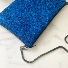 Load image into Gallery viewer, Electric Blue Glitter Bag