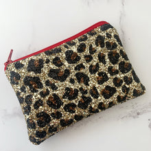 Load image into Gallery viewer, Gold Leopard Coin Purse