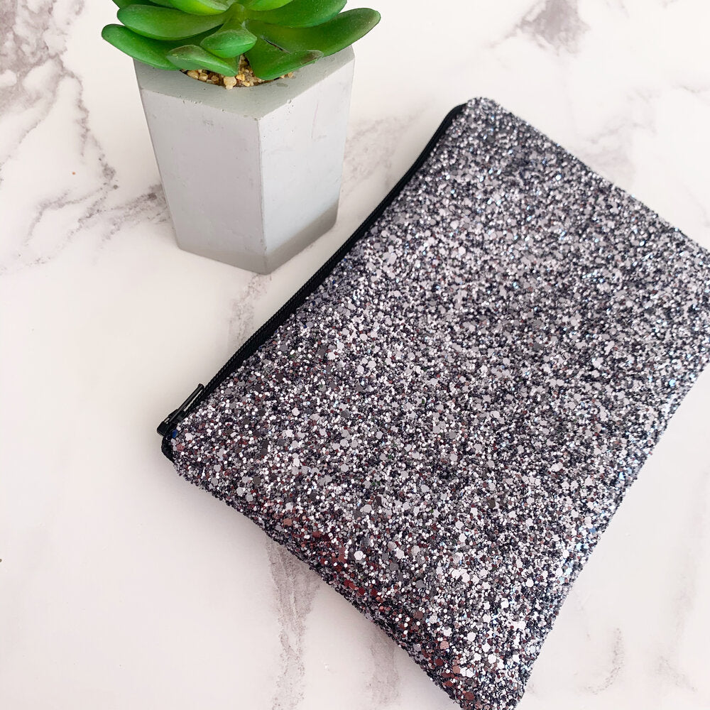 Gunmetal Glitter Bag