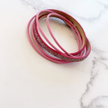 Load image into Gallery viewer, Pink Glitter Bracelet
