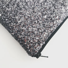 Load image into Gallery viewer, Gunmetal Glitter Bag