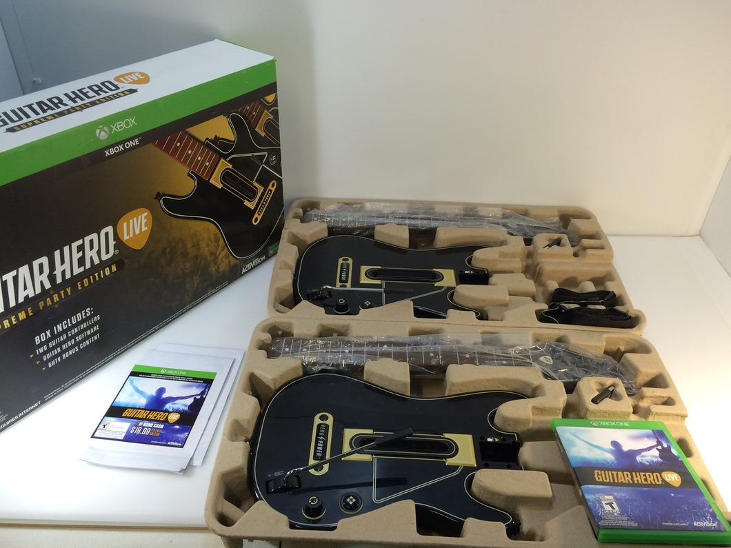 Xbox One Guitar Hero Live Supreme Party Edition 2 Pack Bundle