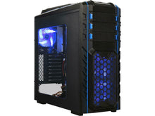 Load image into Gallery viewer, DIYPC Black SECC ATX Full Tower Computer Case Skyline-06-WB