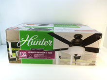 "Load image into Gallery viewer, Hunter 53340 San Marco 52"" Indoor/Outdoor Noble Bronze Ceiling Fan with Light"