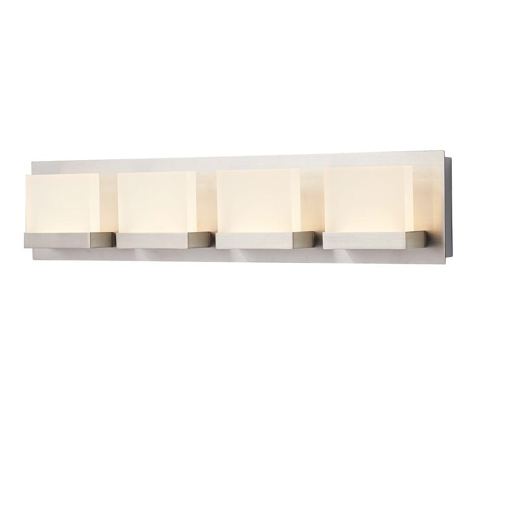 HDC 28025-HBU Alberson 4-Light Brushed Nickel LED Bath Bar Light 1001514599