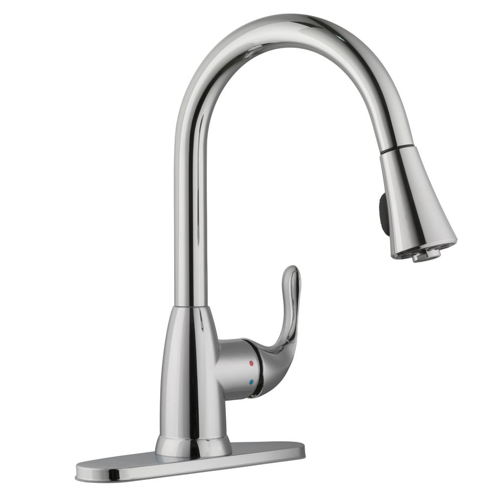Glacier Bay HD67551-0301 Market 1-Handle Pull-Down Spray Kitchen Faucet Chrome