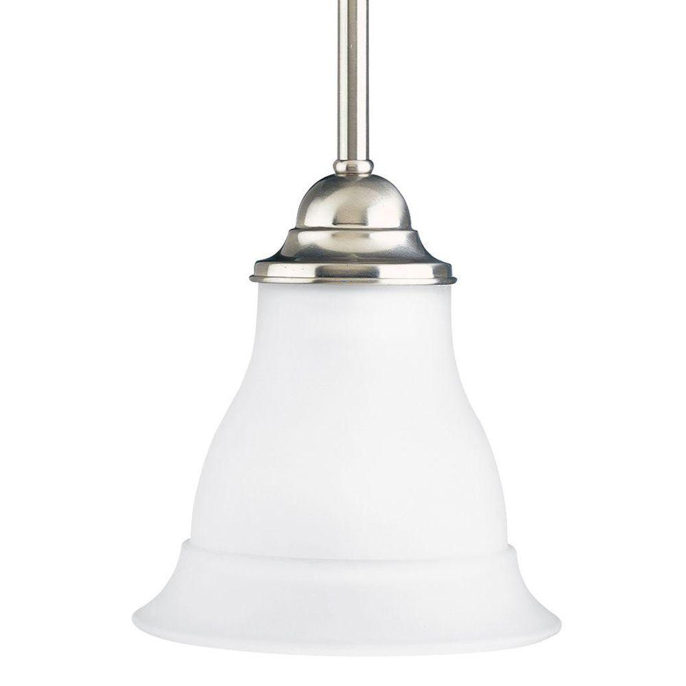 Progress Lighting Trinity 1-Light Brushed Nickel Mini Pendant P5096-09