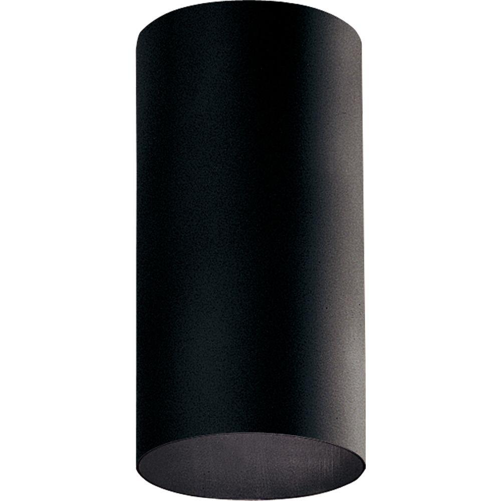 Progress Lighting 6 In. Cylinder Black Outdoor Flushmount P5741-31
