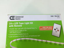Load image into Gallery viewer, Commercial Electric DC9521WH-A 24ft. LED Warm White Tape Light Kit 1001798987