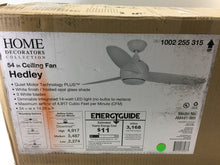 Load image into Gallery viewer, Home Decorators Collection Hedley 54in. LED Indoor White Ceiling Fan AM441-WH